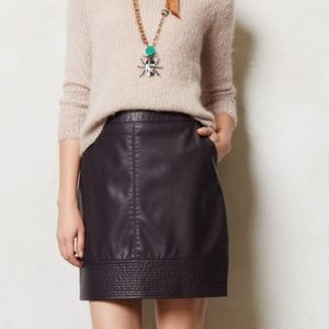 Vanessa Virginia Plum Purple Faux Leather Skirt